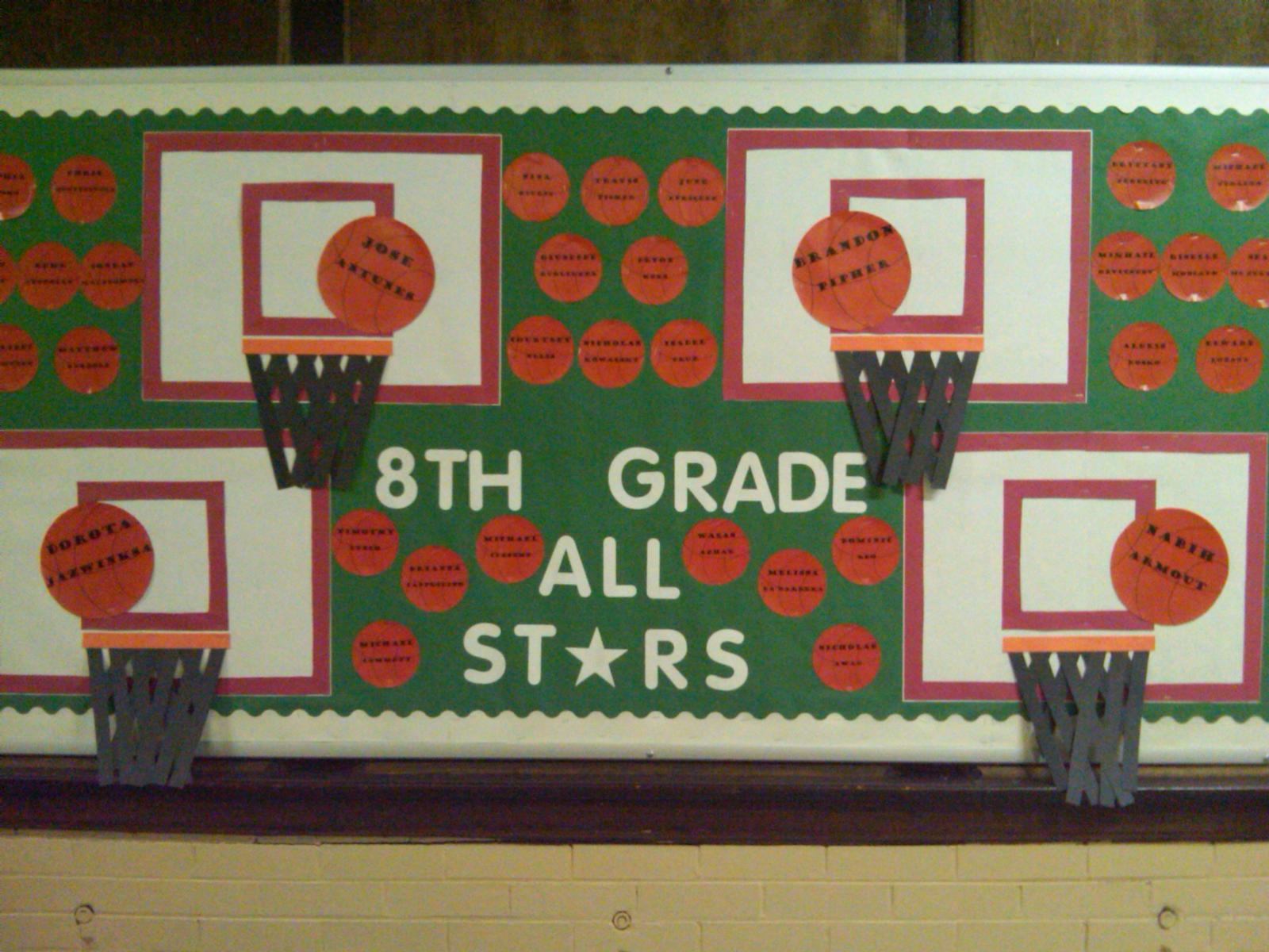 Student Achievement Bulletin Boards - Miss Keeler 8th